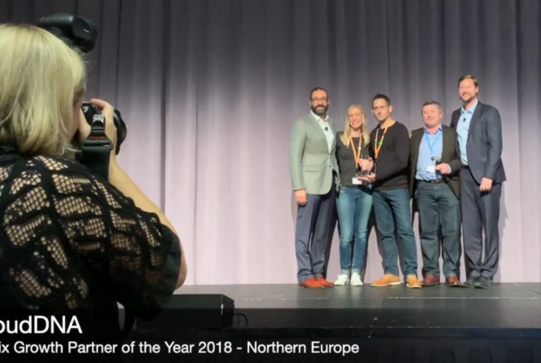 cloudDNA win Citrix Growth Partner of the year 2018