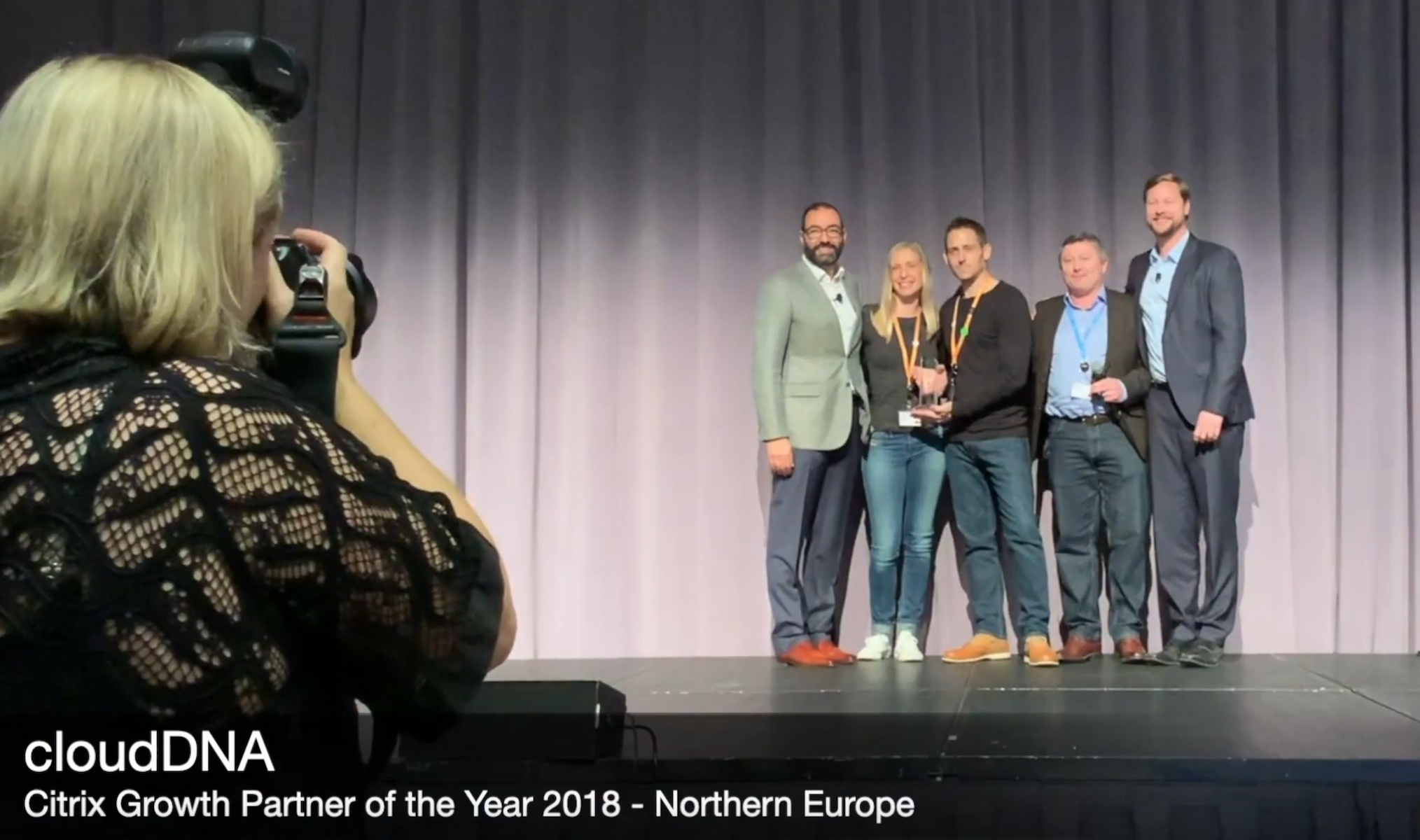 Citrix Growth Partner of the Year 2018 Northern Europe