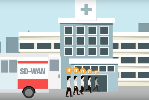 Annimated image of SD-WAN in health sector