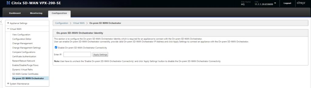 cloudDNA SD-WAN Centre Dashboard Orchestrator